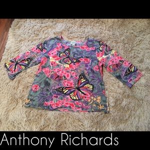 Anthony Richards butterfly print top